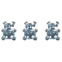 Acryl Teddybär, 1,1x1,5cm, SB-Btl 24Stück, babyblau