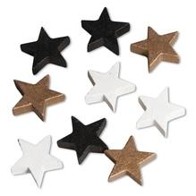 Holz Streuteile Sterne, 2,6x0,7cm, Btl 12Stück