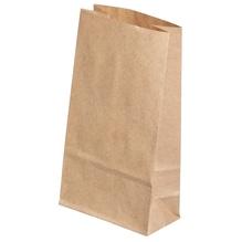 Papiertüte braun, Lebensmittelecht, 9,5x6x17cm, SB-Btl 8Stück