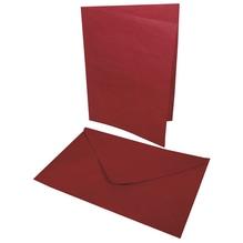 Doppelkarte+Umschlag, 218x155mm, Karte296x208mm, Beutel 2Set, bordeaux