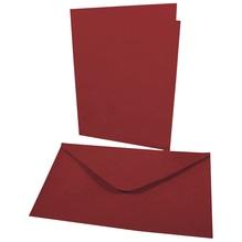 Doppelkarte+Umschlag, 178x120mm, Karte227x168mm, Beutel 4Set, bordeaux