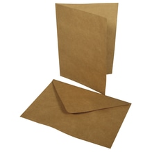 Doppelkarte+Umschlag, 218x155mm, Karte296x208mm, Beutel 2Set, karamell