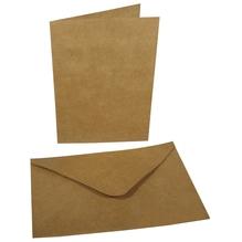 Doppelkarte+Umschlag, 178x120mm, Karte227x168mm, Beutel 4Set, karamell