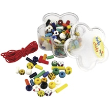 Rocailles-Mix-Konfetti mit Gummifaden, Dose 40g, gemischt