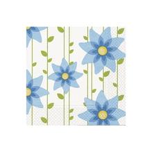 Serviette Simple Blue Flower, 33x33cm, Btl 20Stück