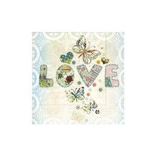 Serviette LOVE, FSC MixCredit, 33x33cm, Beutel 20Stück
