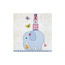 Serv. Baby Elefant blau, FSC MixCredit, 33x33cm, Beutel 20Stück