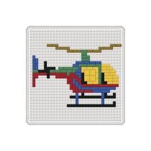 Steckmosaik -Hubschrauber- 14 x 14 cm, SB-Btl. 1 Platte, 264 Steine, 1 Werkzeug