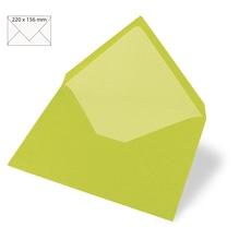 Kuvert C6, uni, FSC Mix Credit, 156x110mm, 90g/m2, Beutel 5Stück, lindgrün