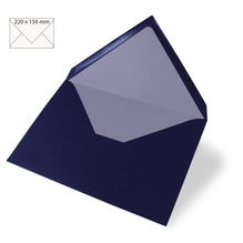 Kuvert C6, uni, FSC Mix Credit, 156x110mm, 90g/m2, Beutel 5Stück, nachtblau