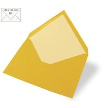 Kuvert B6, uni, FSC Mix Credit, 180x120mm, 90g/m2, Beutel 5Stück, sonnengelb
