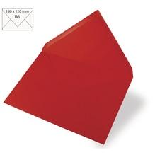 Kuvert B6, uni, FSC Mix Credit, 180x120mm, 90g/m2, Beutel 5Stück, klassikrot