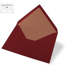 Kuvert B6, uni, FSC Mix Credit, 180x120mm, 90g/m2, Beutel 5Stück, bordeaux