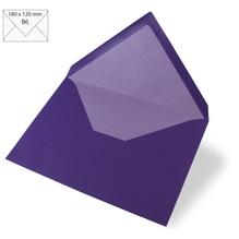 Kuvert B6, uni, FSC Mix Credit, 180x120mm, 90g/m2, Beutel 5Stück, violett