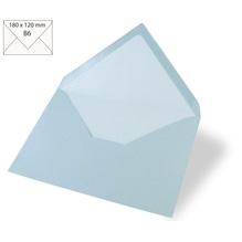 Kuvert B6, uni, FSC Mix Credit, 180x120mm, 90g/m2, Beutel 5Stück, babyblau