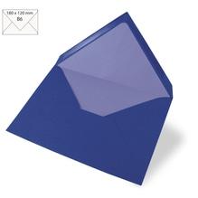 Kuvert B6, uni, FSC Mix Credit, 180x120mm, 90g/m2, Beutel 5Stück, royalblau