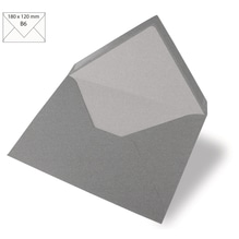 Kuvert B6, uni, FSC Mix Credit, 180x120mm, 90g/m2, Beutel 5Stück, dunkelgrau