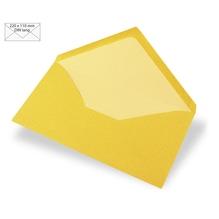 Kuvert DIN Lang, uni, FSC Mix Credit, 220x110mm, 90g/m2, Beutel 5Stück, sonnengelb