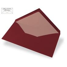 Kuvert DIN Lang, uni, FSC Mix Credit, 220x110mm, 90g/m2, Beutel 5Stück, bordeaux