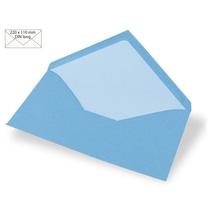 Kuvert DIN Lang, uni, FSC Mix Credit, 220x110mm, 90g/m2, Beutel 5Stück, azurblau