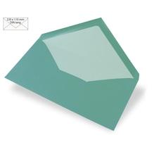 Kuvert DIN Lang, uni, FSC Mix Credit, 220x110mm, 90g/m2, Beutel 5Stück, türkis