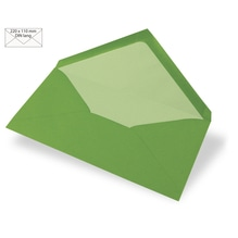 Kuvert DIN Lang, uni, FSC Mix Credit, 220x110mm, 90g/m2, Beutel 5Stück, immergrün