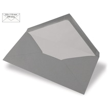 Kuvert DIN Lang, uni, FSC Mix Credit, 220x110mm, 90g/m2, Beutel 5Stück, dunkelgrau