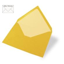 Kuvert für Karte A5, uni, FSC Mix Credit, 220x156mm, 90g/m2, Beutel 5Stück, sonnengelb