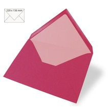 Kuvert für Karte A5, uni, FSC Mix Credit, 220x156mm, 90g/m2, Beutel 5Stück, pink