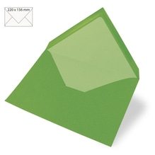 Kuvert für Karte A5, uni, FSC Mix Credit, 220x156mm, 90g/m2, Beutel 5Stück, immergrün