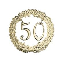 Zahlenkranz, Pappe, 18cm ø, gold,  50