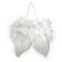 Engelflügel aus Federn, 5cm, SB-Btl 2Stück, weiß