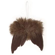 Engelflügel aus Federn, 5cm, SB-Btl 2Stück, d.braun