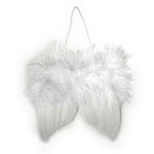 Engelflügel aus Federn, 10cm, SB-Btl 2Stück, weiß
