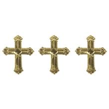 Metall Plättchen: Kreuz, 1,5cm, SB-Btl 10g, gold