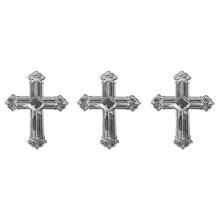 Metall Plättchen: Kreuz, 1,5cm, SB-Btl 10g, silber