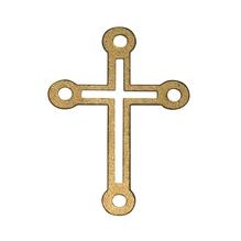 Holzstreuteile Kreuz, 4,5 cm, SB-Btl. 6 Stück, gold