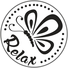 Label Relax, 45mm ø, SB-Btl 1Stück