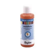 Kinder-Bastelfarbe, Flasche 80ml, orange