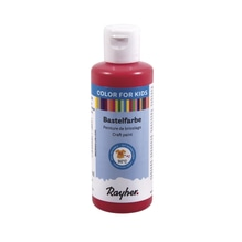 Kinder-Bastelfarbe, Flasche 80ml, kardinalrot