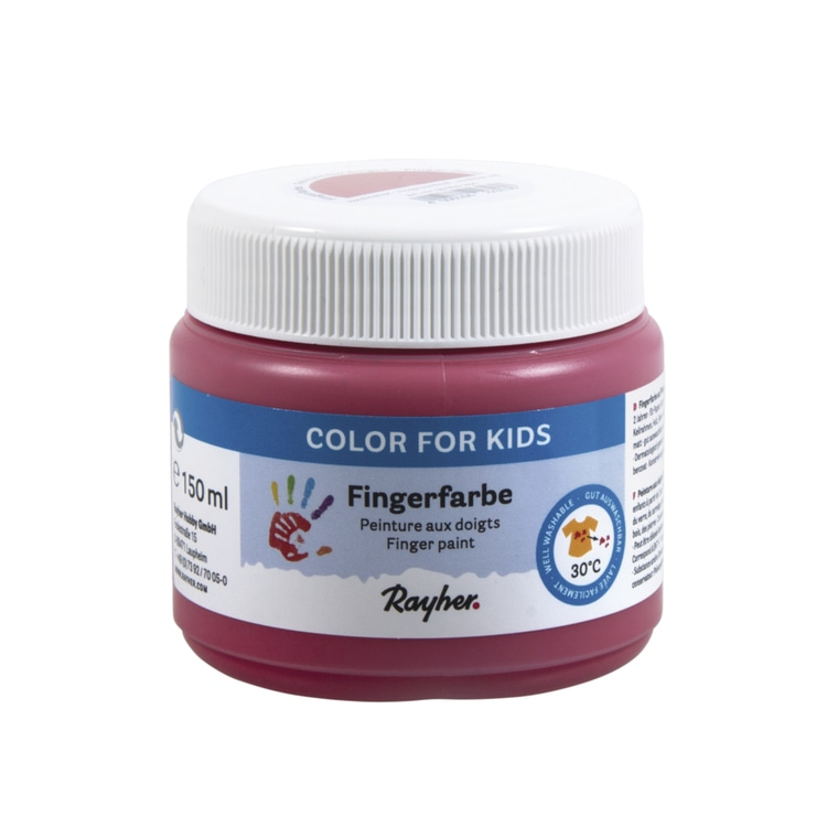 Fingerfarbe, Dose 150ml, kardinalrot
