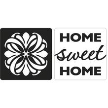 Labels Mandala, Home sweet Home, 25x25mm, SB-Btl 2Stück