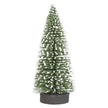 Deko-Tannenbaum beschneit, 10cm, grün, PVC-Box 4Stück