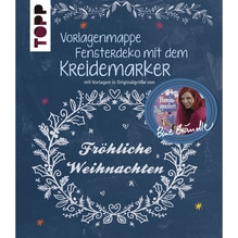 Buch: Fensterdeko m. Kreidemarker, Vorlagen,nur in deutscher Sprache
