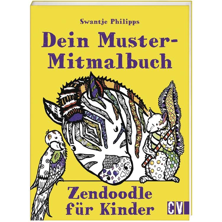 Buch: Dein Muster-Mitmalbuch Zendoodle, nur in deutscher Sprache
