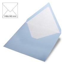 Kuvert quadratisch, uni,FSC Mix Credit, 140x140mm, 90g/m2, Beutel 5Stück, babyblau