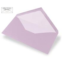 Kuvert DIN Lang, uni, FSC Mix Credit, 220x110mm, 90g/m2, Beutel 5Stück, flieder