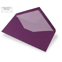 Kuvert DIN Lang, uni, FSC Mix Credit, 220x110mm, 90g/m2, Beutel 5Stück, purple velvet