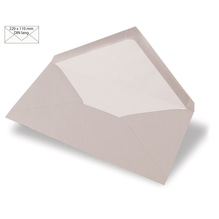 Kuvert DIN Lang, uni, FSC Mix Credit, 220x110mm, 90g/m2, Beutel 5Stück, taupe