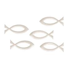 Streuteil Fisch, 5,2x2,1cm, SB-Btl 5Stück, creme